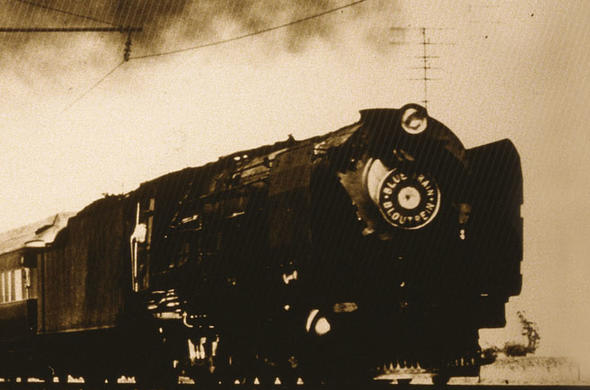 Old photo of the Blue Train.