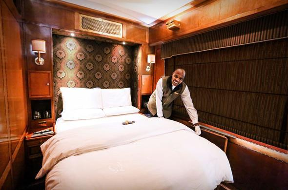 Luxury Suite on board the Blue Train.