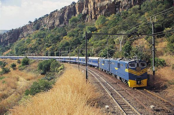 Blue Train Pretoria to Cape Town route.