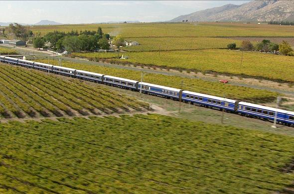 The Blue Train route along the Cape Winelands.